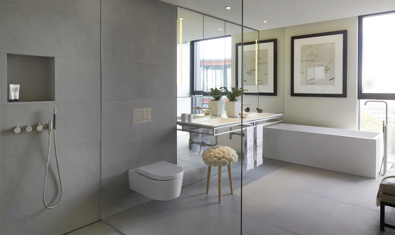 Grey And White Bathroom Modern Bathrooms Pinterest